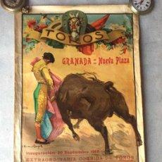 Tauromaquia: CARTEL DE TOROS - NUEVA PLAZA DE GRANADA - SEPTIEMBRE DE 1928 - CHICUELO CAGANCHO FELIX RODRIGUEZ. Lote 63297800