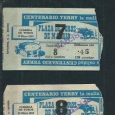 Tauromaquia: LOTE 6 ENTRADAS DE CORRIDAS DEL MES DE MAYO 1963 - PLAZA DE TOROS DE MADRID . Lote 64521375