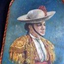 Tauromaquia: MARAVILLOSA PINTURA SOBRE PALETA DE MADERA PICADOR TOROS SIGLO XIX. Lote 64859663