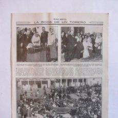 Tauromaquia: RECORTE MUNDO GRAFICO 01-12-1915 BODA DE PACO MADRID. FUENLABRADA.. Lote 64863203