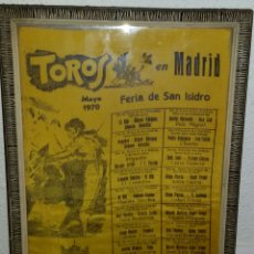 Tauromaquia: CARTEL TOROS EN TELA -SAN ISIDRO 1970.. Lote 65427031