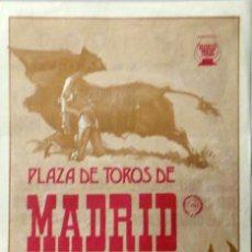Tauromaquia: CARTEL PLAZA DE MADRID 1981. Lote 67328665