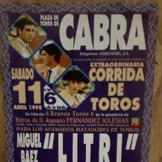 Tauromaquia: CARTEL TOROS CABRA. Lote 67465969
