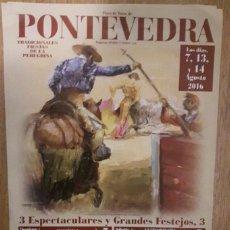 Tauromaquia: CARTEL TOROS PONTEVEDRA 2016. Lote 90380727