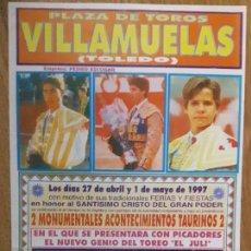 Tauromaquia: CARTEL TOROS VILLAMUELAS PRESENTACIÓN CON PICADORES DEL JULI. Lote 67468749