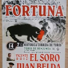 Tauromaquia: CARTEL TOROS FORTUNA TORERO EL SORO. Lote 67472245