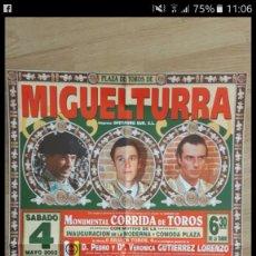 Tauromaquia: CARTEL TOROS INAGURACION MIGUELTURRA PLAZA TOROS. Lote 67475025