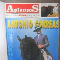 Tauromaquia: REVISTA APLAUSOS. 1996. DEL Nº953 AL 978. DE ENERO A JUNIO. ENCUADERNADO. 33,3 X 26CM. Lote 67790389