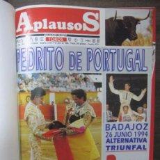 Tauromaquia: REVISTA APLAUSOS. 1994. DEL Nº875 A 900. DE JULIO A DICIEMBRE. ENCUADERNADO. 33,3 X 26CM. Lote 67797325