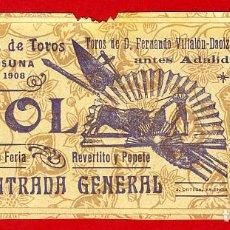Tauromaquia: ANTIGUA ENTRADA TOROS, PLAZA DE OSUNA SEVILLA , 1908 ,ORIGINAL , ET 2490. Lote 68864793