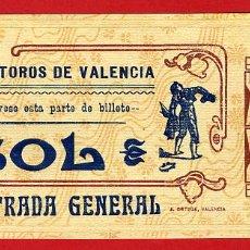 Tauromaquia: ANTIGUA ENTRADA TOROS, PLAZA DE VALENCIA , 1908 ,ORIGINAL , ET 2504. Lote 68866485