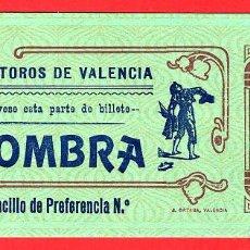 Tauromaquia: ANTIGUA ENTRADA TOROS, PLAZA DE VALENCIA , 1908 ,ORIGINAL , ET 2509. Lote 68866761