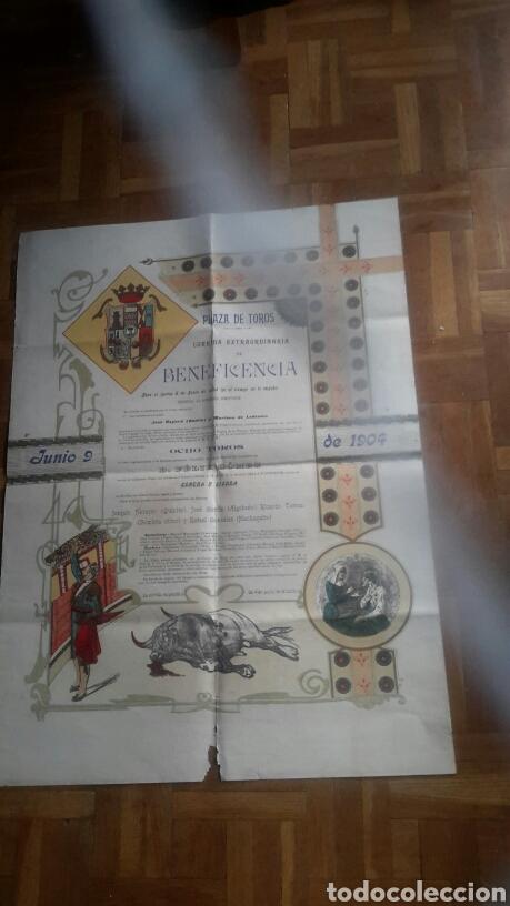 CARTEL DE TOROS ANTIGUO DE 1904 (Coleccionismo - Tauromaquia)
