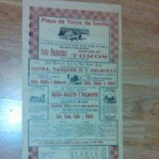 Tauromaquia: CARTEL TOROS FERIA SEVILLA 1914. Lote 71039861