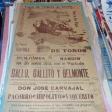 Tauromaquia: CARTEL TOROS SEVILLA FERIA SAN MIGUEL 1914. Lote 71040077