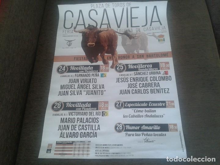 CARTEL TAURINO -- PUEBLO DE ÁVILA -- CASTILLA LEÓN -- MEDIDAS 69,50 X 50 CM -- (Coleccionismo - Tauromaquia)