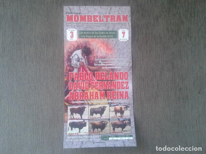 CARTEL DE MANO TAURINO -- MOMBELTRÁN -- PUEBLO DE ÁVILA -- CASTILLA LEÓN -- (Coleccionismo - Tauromaquia)