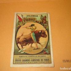 Tauromaquia: PROGRAMA C. RUANO LLOPIS NUEVE CORRIDAS DE TOROS EN VALENCIA FAMOSAS CORRIDAS DE FERIA DEL AÑO 1931 . Lote 72080983