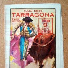 Tauromaquia: PROGRAMA, FOLLETO PLAZA TOROS TARRAGONA - DAMASO GONZALEZ, GALAN, ZALAZAR . Lote 73068215