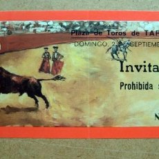 Tauromaquia: TICKET, ENTRADA INVITACION PLAZA TOROS TARRAGONA 1979. Lote 73068715