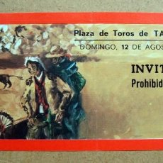 Tauromaquia: ICKET, ENTRADA INVITACION PLAZA TOROS TARRAGONA 1979. Lote 73821811