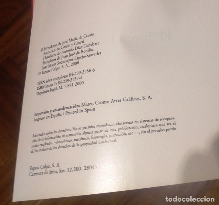 Tauromaquia: EL COSSIO- Edit ESPASA- 5 Tomos sueltos - Foto 3 - 74351019
