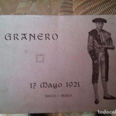 Tauromaquia: MANUEL GRANERO. TORERO. Lote 75104531