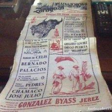 Tauromaquia: CARTEL DE SEDA FIESTAS DEL PILAR ZARAGOZA 1960. Lote 75220515