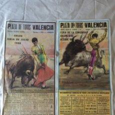 Tauromaquia: TOROS. PLAZA TOROS VALENCIA. 2 CARTELES FERIA 1988.. Lote 75512110