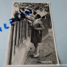 Tauromaquia: FOTOGRAFIA DE TORERO MAERA HIJO PARA EL Nº EXTRAORDINARIO DE LA REVISTA TAURINA JOSELITO 13 X 8 CM. Lote 75773323