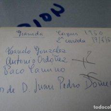 Tauromaquia: MINI REPORTAJE 2ª CORRIDA CORPUS DE GRANADA17/06/60 ANTONIO ORDOÑEZ, PACO CAMINO, MANUEL GONZALEZ. Lote 75774399