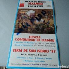 Tauromaquia: PROGRAMA PLAZA DE TOROS DE MADRID LAS VENTAS FERIA DE SAN ISIDRO 1997. Lote 75856159