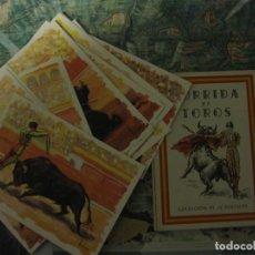 Tauromaquia: CORRIDA DE TOROS. COLECCIÓN DE 12 POSTALES.. Lote 76029923
