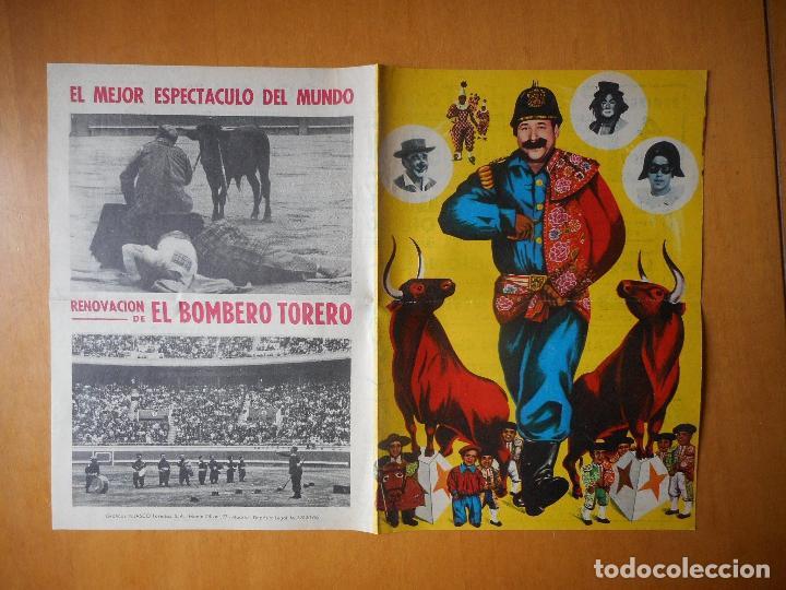 FOLLETO DÍPTICO EL BOMBERO TORERO. ARÉVALO, MANOLÍN. PLAZA DE TOROS DE GRANADA, JUNIO 1967 (Coleccionismo - Tauromaquia)