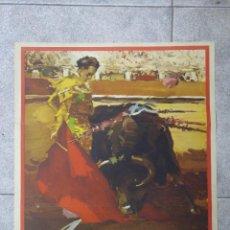 Tauromaquia: CARTEL. PLAZA DE TOROS DE BEAUCAIRE. 1960. CESAR GIRON. CURRO GIRÓN. PERRE SCHULL. 70X42,5CM. Lote 76944393