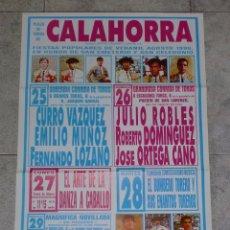 Stierkampf - CARTEL. PLAZA DE TOROS DE CALAHORRA. 1990. LOZANO. EL VICTOR, JOSELITO, LITRI, ORTEGA CANO, EL SORO. - 77257350