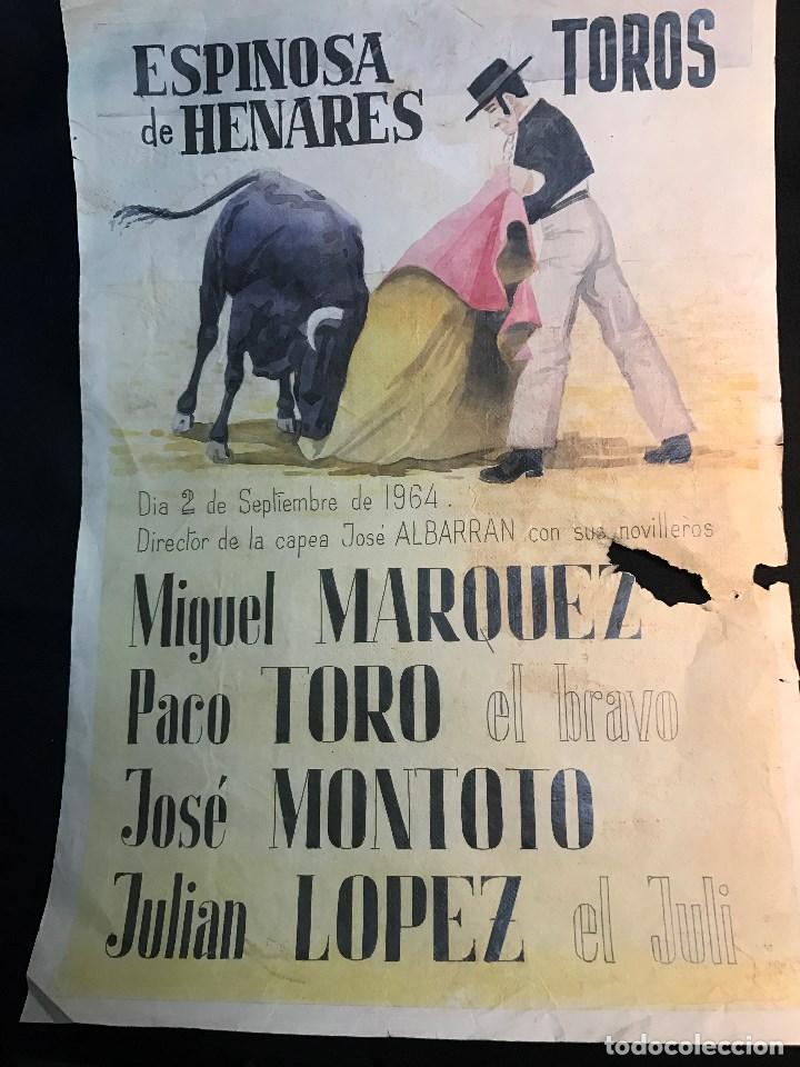 RG - CARTEL DE TOROS. PLAZA DE - ESPINOSA DE HENARES. - FERIA DEL 2 - 9 - 1964 (Coleccionismo - Tauromaquia)