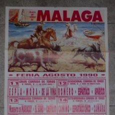 Tauromaquia: CARTEL. PLAZA DE TOROS DE MALAGA. FERIA. 1990. ESPLA. ESPARTACO. APARICIO. LITRI. JOSELITO. MANILI... Lote 77147813