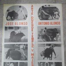 Tauromaquia: CARTEL DE TOROS. JOSE ALONSO Y ANTONIO ALONSO. ALGECIRAS. 70 X 49,5 CM.. Lote 77750449