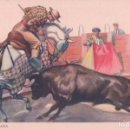Tauromaquia: POSTAL DIBUJO TOROS - UNA BUENA VARA - FIRMADA FREIXAS- C.Y Z. 819. Lote 78657905