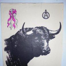 Tauromaquia: DIBUJO DE JOHN FULTON SHORT PARA ANTONIO ORDOÑEZ. CARTULINA. 32,5 X 24 CM. Lote 78833285