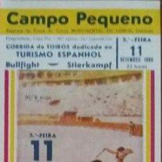 Tauromaquia: CARTEL DE TOROS. CAMPO PEQUENO. I. VARGAS. A. VENTURA. J.L. GALLOSO. D. MORA. GANAD.A.BARBEIRO. 1986. Lote 79012273