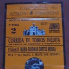 Tauromaquia: CARTEL DE TOROS. LISBOA, CAMPO PEQUEÑO. 1994. MOURA, DOMECQ. 6 TOROS D. MARIA GUIOMAR CORTES MOURA.. Lote 79120033