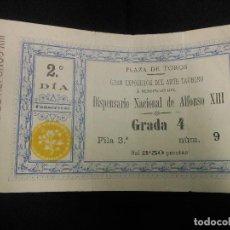 Tauromaquia: 1892 ENTRADA DE TOROS MADRID - ARTE TAURINO A BENEFICIO DISPENSARIO NACIONAL ALFONSO XIII. Lote 79481693