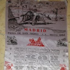 Tauromaquia: CARTEL DE TOROS FERIA SAN ISIDRO 1962 SEDA. Lote 79604757