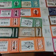 Tauromaquia: 15 ENTRADAS DEL PUERTO NUEVAS DE LOS AÑOS 80. Lote 108841870