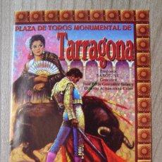 Tauromaquia: FOLLETO, PROGRAMA PLAZA TOROS TARRAGONA 1997 - LITRI, ENRIQUE PONE. Lote 80107217