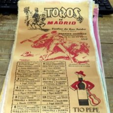 Tauromaquia: CARTEL DE TOROS DE MADRID. FERIA DE SAN ISIDRO 1969. SEDA. 10 AL 25 DE MAYO. PAQUIRRI, ANGEL TERUEL. Lote 80277197