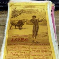 Tauromaquia: CARTEL DE SEDA,INAUGURACION DE LA NUEVA PLAZA DE TOROS DE ALGECIRAS DE CADIZ 1969. Lote 80278289