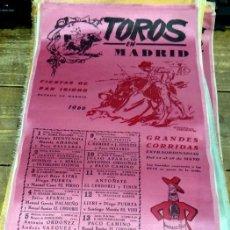 Tauromaquia: TOROS EN MADRID, FIESTAS DE SAN ISIDRO 1966, CARTEL EN SEDA. 52X25 CMS. Lote 80280897